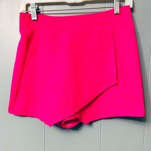Bright pink skort